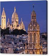 Montmartre Twilight Canvas Print