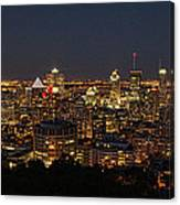 Montreal At Night Canvas Print