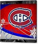 Montreal Canadiens Christmas Canvas Print