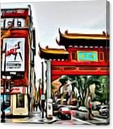 Montreal China Town Canvas Print