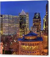 Montreal Downtown At Dusk Hdr II Canvas Print