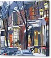 Montreal Hiver Crescent Canvas Print