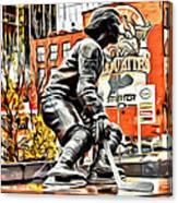 Montreal Hockey Lady Canvas Print