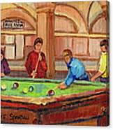 Montreal Pool Room Canvas Print