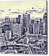 Montreal Skyline From Mount Royal Two Canvas Print