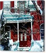 Montreal The Esplanade In Winter Canvas Print