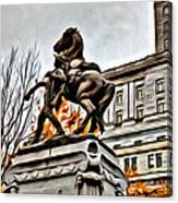 Montreal War Horse Canvas Print