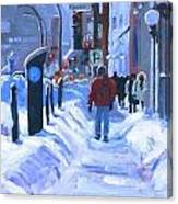 Montreal Winter Downtown Canvas Print