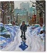 Montreal Winter Fastest Transportation Canvas Print