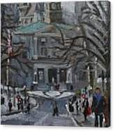 Montreal Winter Mcgill Canvas Print
