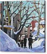 Montreal Winter Mile End Shabbat Canvas Print