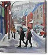 Montreal Winter Scene Mont Royal Canvas Print