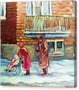 Montreal Winter Scenes Canvas Print