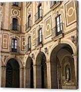 Montserrat Monastery Courtyard Canvas Print