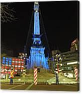 Monument Circle Indianapolis At Night Canvas Print