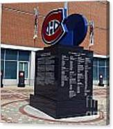Monument For The Montreal Canadiens Canvas Print