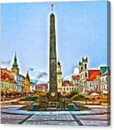 Monument In B.bystrica Canvas Print