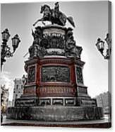 Monument To Russian Emperor Nicholas I In St . Petersburg . Russia Canvas Print