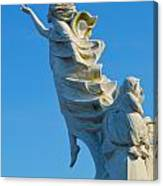 Monument To The Immigrants Statue 1 Canvas Print