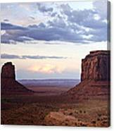 Monument Valley At Sunset Canvas Print
