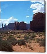Monument Valley Scenic View Canvas Print