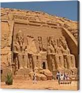 Monumental Abu Simbel Canvas Print