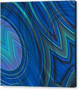 Mood In Blues Canvas Print