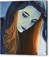 Moody Blue Canvas Print