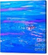 Moody Blues Abstract Canvas Print
