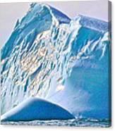 Moody Blues Iceberg Closeup In Saint Anthony Bay-newfoundland-canada Canvas Print