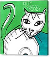 Moody Cat- Pop Art Canvas Print