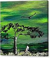 Moomintroll And Lighthouse Canvas Print