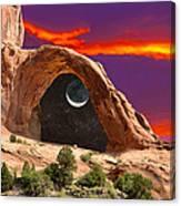Moon In Corona Arch Canvas Print