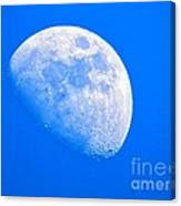 Moon In The Blue Sky. Canvas Print