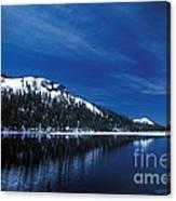 Moon - Lake Canvas Print