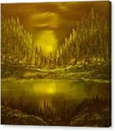 Moon Lake Reflection-original Sold- Buy Giclee Print Nr 33 Of Limited Edition Of 40 Prints  Canvas Print