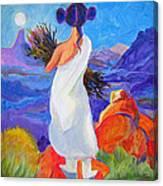 Moon Maiden Canvas Print