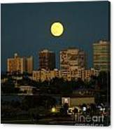 Moon Over Bal Harbour Canvas Print