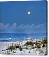 Moon Over Beach Canvas Print