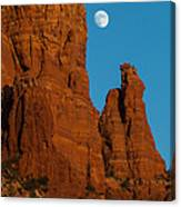 Moon Over Chicken Point Canvas Print
