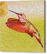 Moon Over Hummingbird Canvas Print