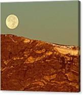 Moon Over Mount Ida Canvas Print