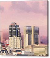 Moon Over Nashville Canvas Print