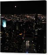 Moon Over New York City Canvas Print