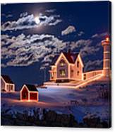 Moon Over Nubble Canvas Print