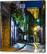 Moon Over Old City Of The York Canvas Print