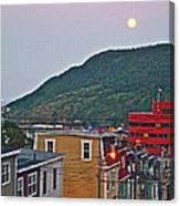 Moon Over Saint John's-nl Canvas Print