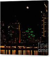 Moon Over San Diego Canvas Print