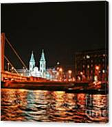 Moon Over The Danube Canvas Print