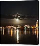 Moon Over West Palm I Canvas Print